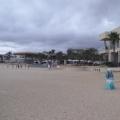En la playa junto al Grand Mayan